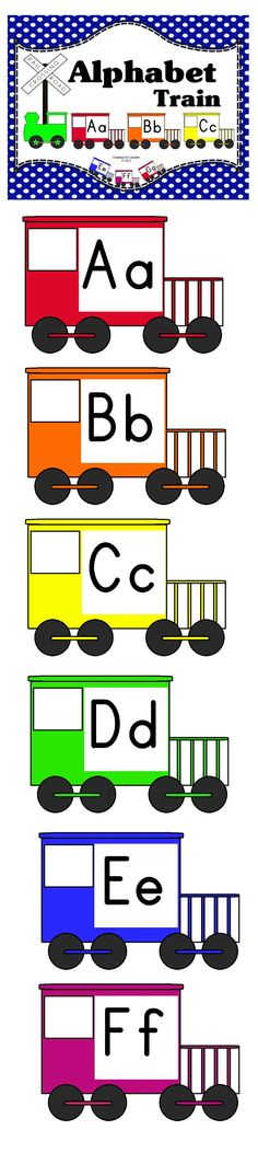 Alphabet Train! Cute to display in your 'classroom' or for laminate and have children put together a long ABC train together on the floor! Download Club members can download @ http://www.christianhomeschoolhub.spruz.com/preschool---kindergarten.htm. Not a download club member? Purchase @ http://www.teacherspayteachers.com/Product/Alphabet-Train-Colors-of-the-Rainbow