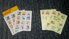 Vintage Joan Walsh Anglund Miss You & Especially You 6 Sheets Of Stickers, NEW