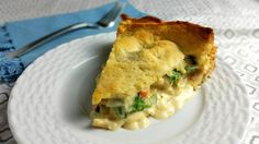 You'll love this no egg chicken and veggie pie. It won a blue ribbon and the cream cheese makes it tangy and the vegetables balance well with the chicken. Homemade Chicken Pot Pie, Homemade Pie, Chicken Recipes, Turkey Recipes, Chicken And Vegetables, Veggies, Cheesy Chicken, Cooking Recipes, Stuffed Peppers
