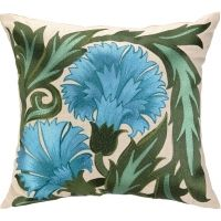 Carnation Embroidered Pillow