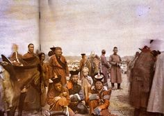 Mongolia? China? / Autochrome Lumière: an early color photography process. Patented by the Lumière brothers in France (1903) and first marketed in 1907. It was the principal color photography process in use.