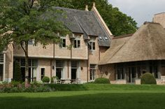 Combination of tiled and thatched roof