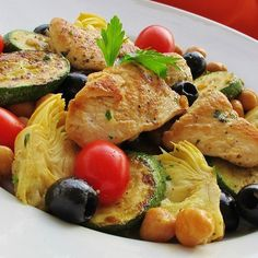 """Zucchini Artichoke Summer Salad I """"Score! It really was a flavorful medley of well-chosen, compatible ingredients!"""""""