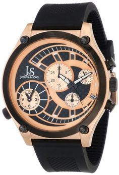 Joshua  Sons Mens JS13RG Duel Time Quartz Chronograph Strap Watch -- Details can be found by clicking on the image. (This is an Amazon affiliate link)