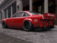 Make Your Nissan Look Like A Retro Muscle Car With This Awesome Rocket Bunny Body Kit - Japanese Nissan 240sx, Japanese Sports Cars, Classic Japanese Cars, Classic Cars, Plymouth Barracuda, S14 Rocket Bunny, Aston Martin, Subaru, Volvo