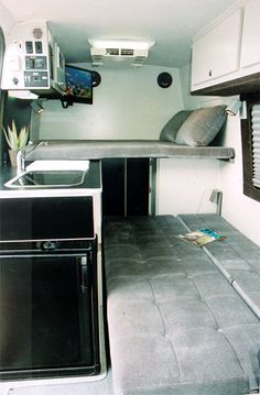 Camper van layout ideas including cargo *I don't love the Sprinter's exterior…