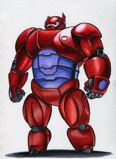 Robot 39 - Big Hero 6 by M-Everham on DeviantArt Big Hero 6 Characters, Cartoon Characters, Trippy Wallpaper, Galaxy Wallpaper, Baymax, Big Robots, Desenho Tattoo, Disney Marvel, Bullet Journal Inspiration