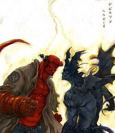 Hellboy vs Devilman
