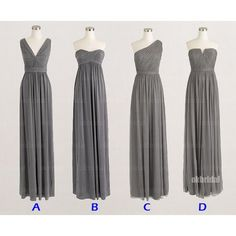 gray bridesmaid dresses, mismatched bridesmaid dresses, long bridesmaid dresses, chiffon bridesmaid dresses, cheap bridesmaid dresses, 15229 sold by LoverDresses. Shop more products from LoverDresses on Storenvy, the home of independent small businesses all over the world.