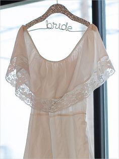 DIY gold sparkly bridal hanger idea #weddingchicks