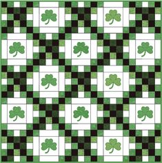 Patrick's Day is all about green clothes, green beer and, for crafters, green quilts. In honor of the Irish holiday, choose any of the patterns below and start stitching a quilt that's sure to leave others feelin' green with envy. Celtic Quilt, Quilt Block Patterns, Quilt Blocks, Pattern Blocks, Irish Chain Quilt, Green Quilt, Luck Of The Irish, Barn Quilts, Quilting Projects
