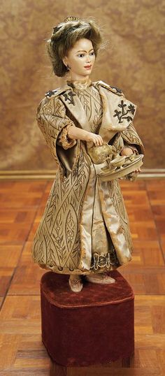 """French Bisque Musical Automaton """"The Chinese Tea Server"""" by Leopold Lambert. Circa 1888. http://Theriaults.com"""