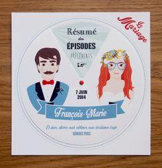 Faire-part de mariage, réalisé par Les Moustachoux