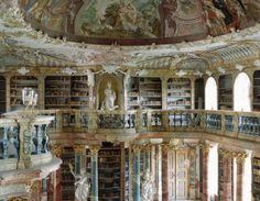 wiblingen abbey library in ulm, germany