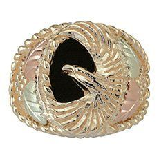 Precious Metal Without Stones 10k Gold Filigree Stampers Black Hills Gold Ring Superior Materials