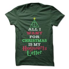 Do you have holiday spirit and really know all you want is your Hogwarts letter? Show everyone your holiday humor, with this great shirt.