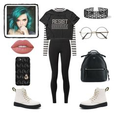 """""""~~"""" by kimtaehyungkim ❤ liked on Polyvore featuring Miss Selfridge, The Row, Fendi, OtterBox and Lime Crime"""