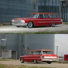 """c0ntr0lz:  """"When you want to get the groceries in style, so it in a classic wagon. Kosal's 63 Ford Wagon is the prefect way to do so. Load up the kids and pets, grab the bags and set sail. This is his new project that we can't wait to see what he does..."""