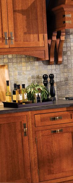 Hand-craftsmanship is prominently featured in a Craftsman kitchen and great attention is given to the small details.