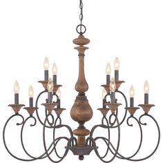 Quoizel ABN5012RK Auburn 12 Light 36 inch Rustic Black Foyer Chandelier Ceiling…