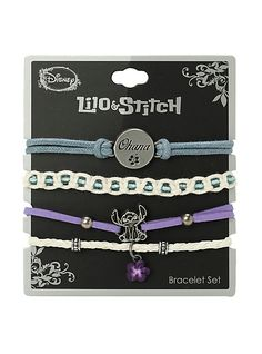Disney Lilo & Stitch Ohana Bracelet 4 Pack | Hot Topic