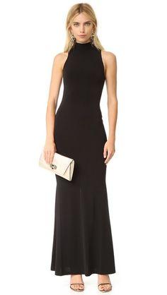 alice + olivia Erika Mock Neck Maxi Dress - gala