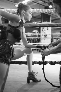 """Gigi Hadid and Stuart Weitzman unveiled the """"Gigi Boot,"""" a high-fashion take on hiker boots inspired by the model's athletic background. See the three boots she designed and the campaign video shot by James Franco."""