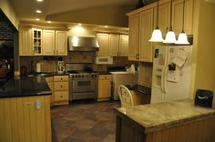 Knotty pine kitchen cabinet doors and cabinets on pinterest - Knotty pine cabinets makeover ...
