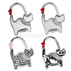 Cute Cat Style Table Foldable Purse Bag Rhinestone Hanger Hangbag Hook Holder # 3.98 free shipping.