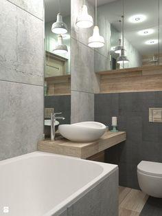 Sposób na małą łazienkę - Mała łazienka, styl skandynawski - zdjęcie od LUDWEE Pracownia Architektury Wnętrz