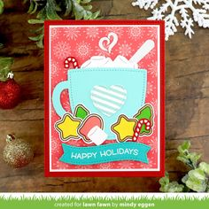 What Is Christmas, Christmas Post, Christmas Mugs, Christmas Cards, Autumn Theme, Winter Theme, Lawn Fawn Blog, Paper Craft Making, Interactive Cards