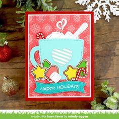 What Is Christmas, Christmas Post, Christmas Mugs, Handmade Christmas, Christmas Cards, Autumn Theme, Winter Theme, Lawn Fawn Blog, Paper Craft Making