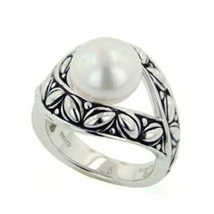 Honora White Button Freshwater Pearl Ring - Size 7 Honora