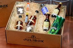 Julibox: Julibox is a monthly cocktail subscription box. You'll get enough ingredients to make two of each cocktail; four cocktails in sum. And you get all of the spirits and mixers you'll need to make 'em.