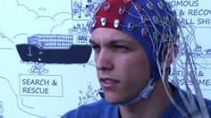 A drone specialist in Portugal demonstrates a flight controlled by human brainwaves, and suggests a future of large-scale unmanned flying.