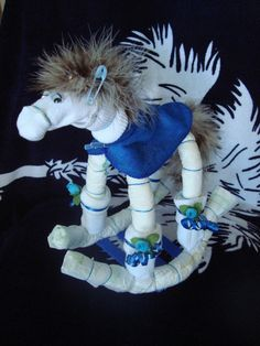 Rockin Horse Diaper Cake Baby Shower Gift and Centerpiece - Mini Diaper Cake