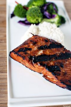 Grilled Salmon. Looks insanely delicious!