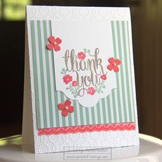 Thank You image from the A Whole Lot of Lovely Stamp set - Stampin' Up!