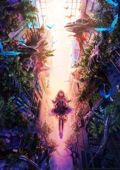 Recollection by LuluSeason.deviantart.com on @deviantART - Awesome details in the foliage. Also, wonderful lighting and perspective.