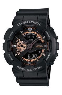 G-Shock 'X-Large' Rose Gold Dial Watch