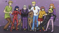 These are the best things ever combined ( I love both Scooby Doo and Miraculous).