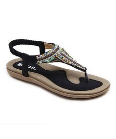 4973831a26 This Black T-Strap Sandal is perfect!  zulilyfinds