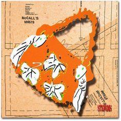 Trademark Fine Art Bow Purse White on Orange Canvas Art by Roderick Stevens, Size: 24 x 24, Multicolor