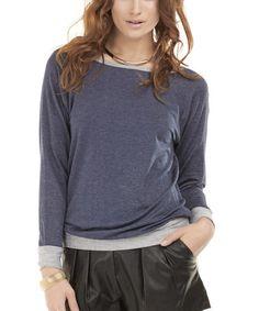 Look at this #zulilyfind! Blue Denim Sienna Sweatshirt #zulilyfinds