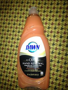 Its not a food, but it is a recipe! Fill small containerd 1/3 with Dawn and add sugar to for a paste for a foot scrub
