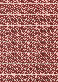 JULES, Red on Flax, AT78706, Collection Palampore from Anna French