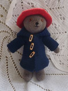 Paddington Bear By Janet McMahon - Free Crochet Pattern - (ravelry)