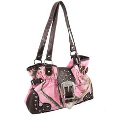 Realtree Belted Tote Bag with Studs and Metal Detail Buckel: Shopko
