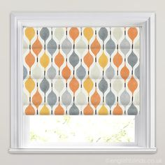 Verve Juice Orange Yellow Roman Blinds - Wide