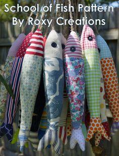 School of Fish PDF Pattern by Roxy by RoxyCreationsBySarah on Etsy, $5.50